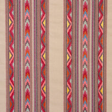 Load image into Gallery viewer, SCHUMACHER ZARZUELA STRIPE EMBROIDERY FABRIC 78392 / MULTI