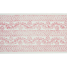 Load image into Gallery viewer, Schumacher Arbela Hand Blocked Tape Trim 78442 / Pink