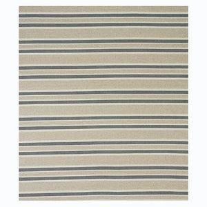 SCHUMACHER OHARA STRIPE INDOOR/OUTDOOR FABRIC 78492 / TAUPE