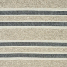 Load image into Gallery viewer, SCHUMACHER OHARA STRIPE INDOOR/OUTDOOR FABRIC 78492 / TAUPE
