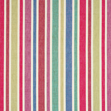 Load image into Gallery viewer, SCHUMACHER CIRCO HAND WOVEN STRIPE FABRIC 78860 / CARNIVAL