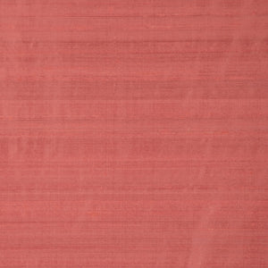 Pure Handwoven Silk Dupioni Drapery Fabric Coral / Brandied Peach