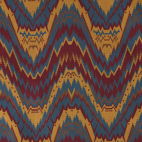 SCHUMACHER TAURIDE EPINGLE FABRIC 79041 / JEWEL