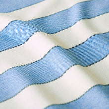 Load image into Gallery viewer, SCHUMACHER BLUMONT STRIPE INDOOR/OUTDOOR FABRIC 79050 / BLUE