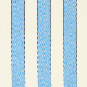 SCHUMACHER BLUMONT STRIPE INDOOR/OUTDOOR FABRIC 79050 / BLUE
