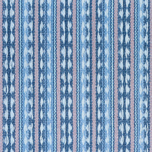 Load image into Gallery viewer, SCHUMACHER TARNBY STRIPE FABRIC 79080 / SKY