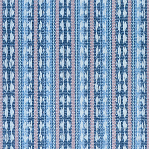 SCHUMACHER TARNBY STRIPE FABRIC 79080 / SKY