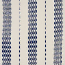 Load image into Gallery viewer, SCHUMACHER LUBECK STRIPE FABRIC 79090 / NAVY
