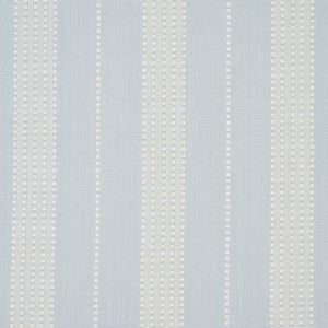 SCHUMACHER LUBECK STRIPE FABRIC 79092 / SKY