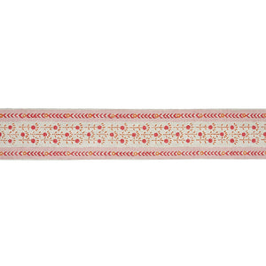 Schumacher Pica Bella Hand Blocked Tape Trim 79100 / Pink & Orange