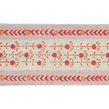 Load image into Gallery viewer, Schumacher Pica Bella Hand Blocked Tape Trim 79100 / Pink & Orange
