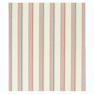 SCHUMACHER BENDITA STRIPE INDOOR/OUTDOOR FABRIC 79152 / ROSE