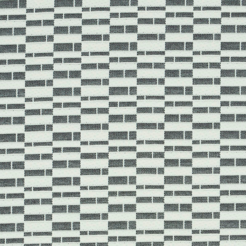 SCHUMACHER ASHCROFT INDOOR/OUTDOOR FABRIC 79162 / BLACK