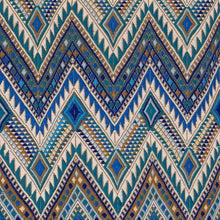 Load image into Gallery viewer, SCHUMACHER COYOLATE HAND WOVEN BROCADE FABRIC 79240 / OCEAN