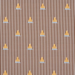 Schumacher Ludus Stripe Fabric 79362 / Brown