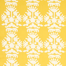 Load image into Gallery viewer, Schumacher Cybele Embroidery Fabric 79471 / Yellow