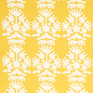 Schumacher Cybele Embroidery Fabric 79471 / Yellow