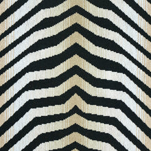 Load image into Gallery viewer, Schumacher Arcure Epingle Fabric 79521 / Zebra Black