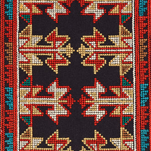 Schumacher Vinka Embroidery Fabric 79621 / Red & Black