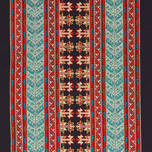 Load image into Gallery viewer, Schumacher Vinka Embroidery Fabric 79621 / Red & Black