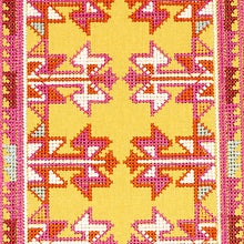 Load image into Gallery viewer, Schumacher Vinka Embroidery Fabric 79622 / Pink & Yellow