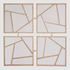 Astratto Geometric Metal Wall Mirror / Gold