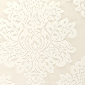 Embroidered Faux Linen Drapery White Ivory Fabric Neutral / Barley RMIL1