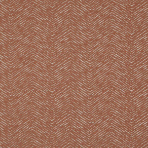 Strand Rusty Red Brown Chevron Upholstery Fabric / Canyon