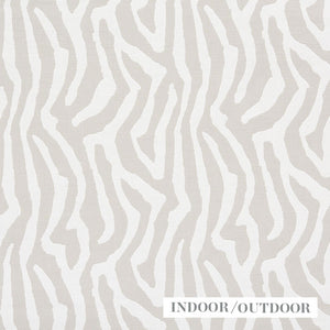 SCHUMACHER AMANZI INDOOR OUTDOOR FABRIC / NATURAL