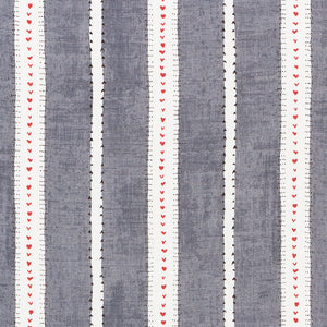 SCHUMACHER AMOUR FABRIC / CHARCOAL