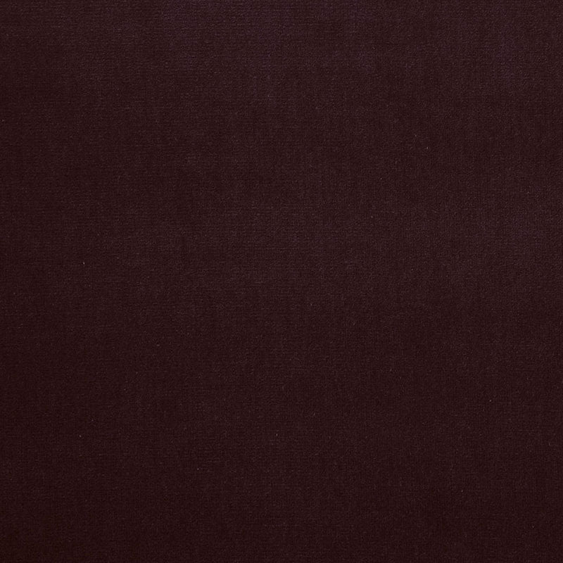 SCHUMACHER GAINSBOROUGH VELVET FABRIC / AUBERGINE