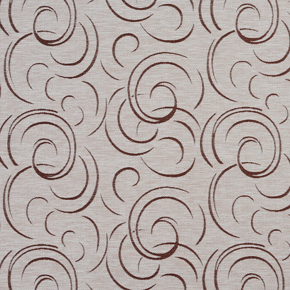 Essentials Heavy Duty Upholstery Drapery Abstract Fabric Beige / Linen Swirl