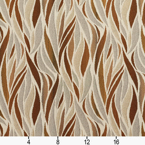 Essentials Outdoor Upholstery Drapery Abstract Fabric / Brown Gray Tan