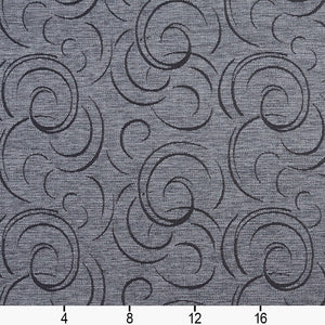 Essentials Heavy Duty Upholstery Drapery Abstract Fabric Gray / Slate Swirl