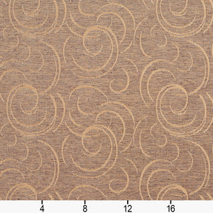 Essentials Heavy Duty Upholstery Drapery Abstract Fabric Light Brown / Antique Swirl