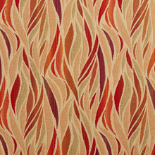 Load image into Gallery viewer, Essentials Outdoor Upholstery Drapery Abstract Fabric / Red Coral Burgundy