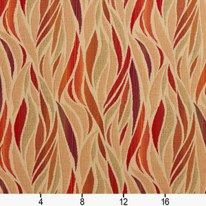 Essentials Outdoor Upholstery Drapery Abstract Fabric / Red Coral Burgundy
