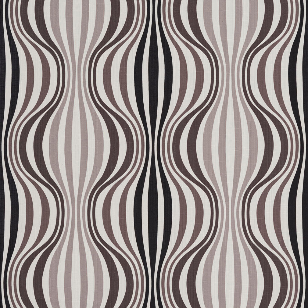 Essentials Drapery Upholstery Abstract Strire Fabric / Black Gray White