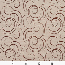 Load image into Gallery viewer, Essentials Heavy Duty Upholstery Drapery Abstract Fabric Tan / Bisque Swirl