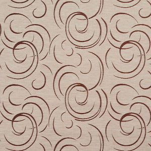 Essentials Heavy Duty Upholstery Drapery Abstract Fabric Tan / Bisque Swirl