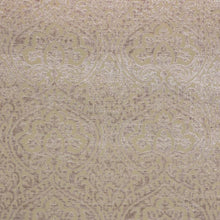 Load image into Gallery viewer, Amalfi Chenille Beige Neutral Damask Upholstery Fabric / Fawn