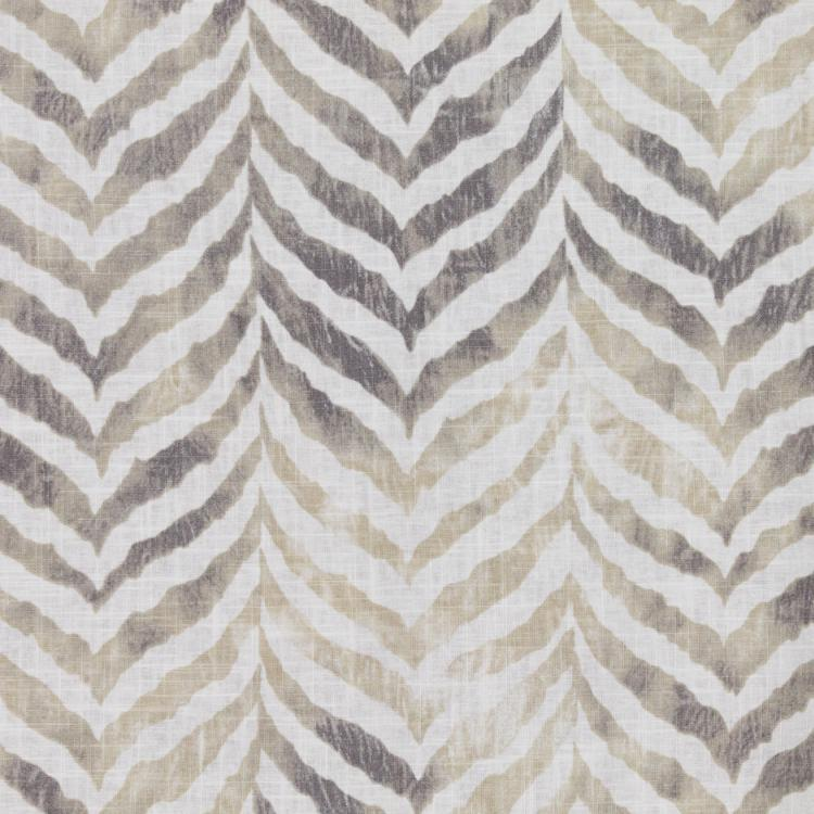 Animal Print Tiger Gray Beige Neutral Cotton Linen Drapery Fabric / Marble