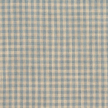 Load image into Gallery viewer, Essentials Aqua Beige Checkered Upholstery Drapery Fabric / Cornflower Gingham
