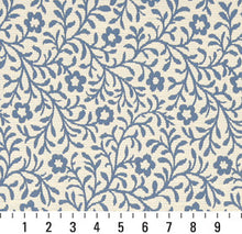 Load image into Gallery viewer, Essentials Aqua Blue Green White Botanical Leaf Floral Upholstery Fabric