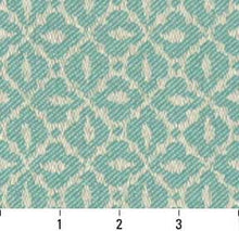 Load image into Gallery viewer, Essentials Indoor Outdoor Upholstery Drapery Fabric Aqua / Lagoon Mosaic