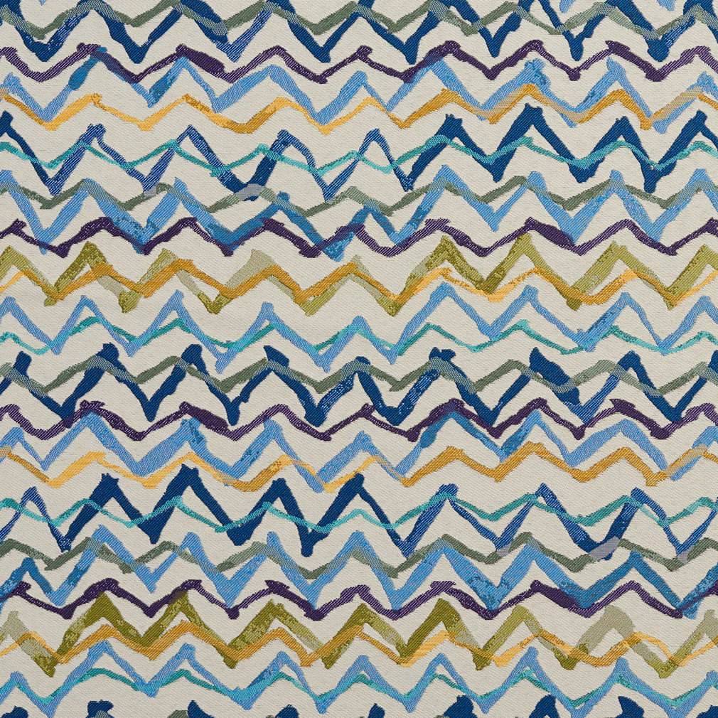 Essentials Aqua Mustard Green Navy Blue Purple Abstract Upholstery Fabric