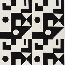 Load image into Gallery viewer, SCHUMACHER BINARY EMBROIDERY FABRIC / BLACK