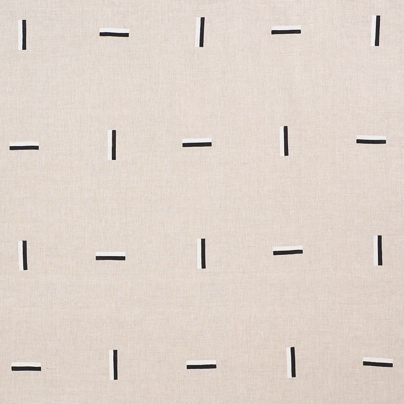 SCHUMACHER ICEHOUSE FABRIC / BLACK & WHITE