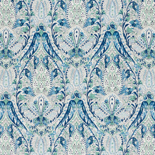 Load image into Gallery viewer, SCHUMACHER LAYLA PAISLEY FABRIC / BLUE & GREEN