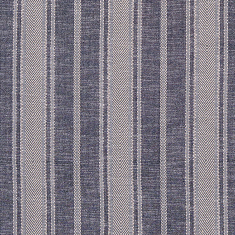 SCHUMACHER ZINA STRIPE FABRIC / BLUE